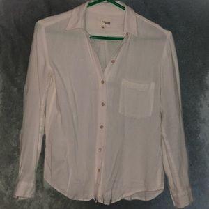 ARITZIA Wilfred Wool Casual Button Shirt